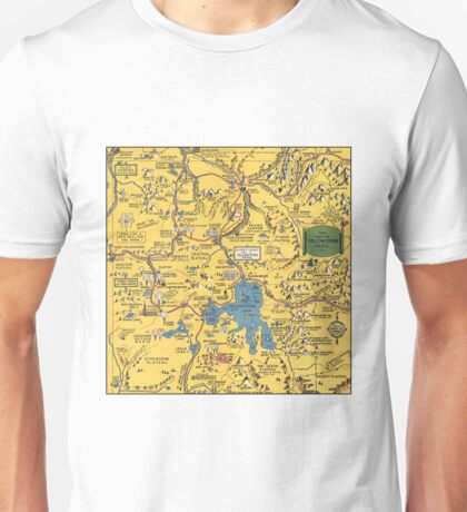 Vintage 1930 Yellowstone National Park map - special gift idea - gift for mother, father gift, Christmas gift Unisex T-Shirt