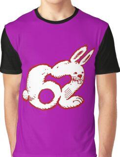 rabbit number 62 cartoon red contour Graphic T-Shirt