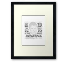 Doctor Who - Quotes from Rory Williams Framed Print