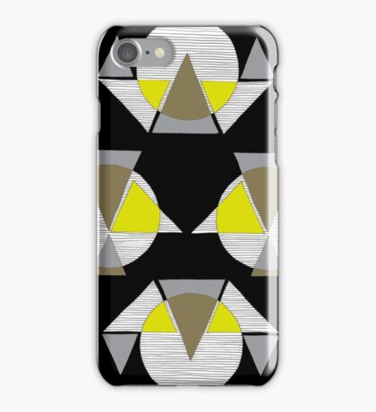 yellow round birds iPhone Case/Skin