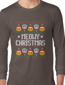 Ugly Christmas Sweater - Cat Long Sleeve T-Shirt