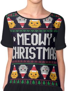 Ugly Christmas Sweater - Cat Chiffon Top