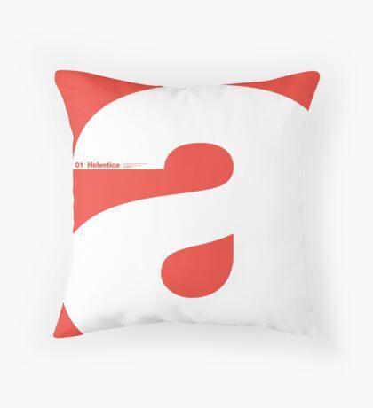 Helvetica - a Throw Pillow
