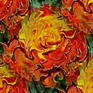 Abstract Orange Yellow And Green Colors by SmilinEyes