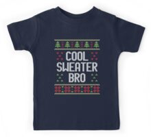 Ugly Christmas Sweater - Cool Sweater Bro Kids Tee