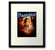 Pumpkin Head Framed Print