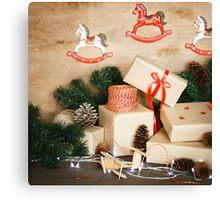 Christmas stuff for handmade Christmas toys Canvas Print