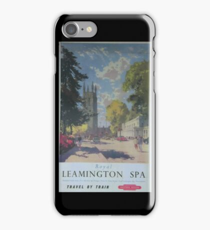 ROYAL LEAMINGTON SPA ~ TRAVEL BY TRAIN iPhone Case/Skin