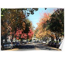 Autumn Downtown Poster