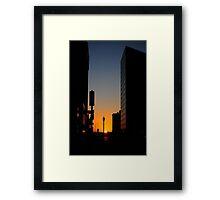 Sundown Downtown Framed Print