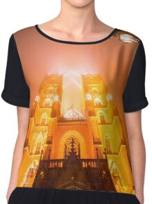 Amazing Cathedral - Architecture Photography Chiffon Top
