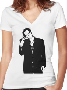Quentin Tarantino Women's Fitted V-Neck T-Shirt