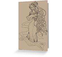 Art Nouveau Lady Greeting Card