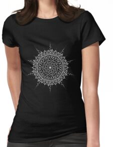 Black Mandala Womens Fitted T-Shirt