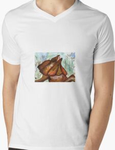 Australian Frilled Neck Lizard  Mens V-Neck T-Shirt