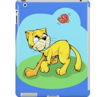 Funny Cat and Red Sparrow iPad Case/Skin