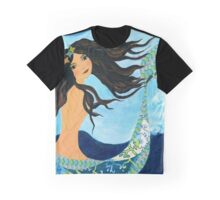Mermaid, Summer, Waves and Sea Graphic T-Shirt