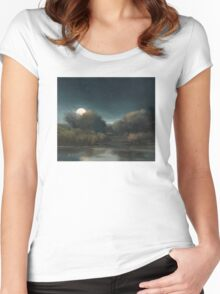 Nocturne: Super Moon, November 14, 2016 Women's Fitted Scoop T-Shirt