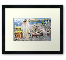 The Beach Party Collaboration with Andy Nawroski Framed Print