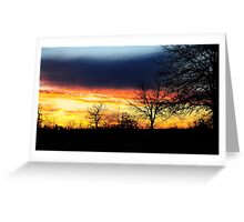 Sky Blue Sunset Greeting Card