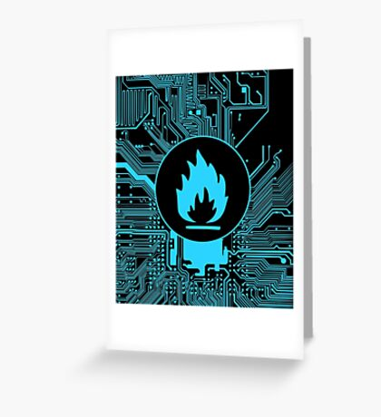 Cybergoth - Flammable (blue) Greeting Card