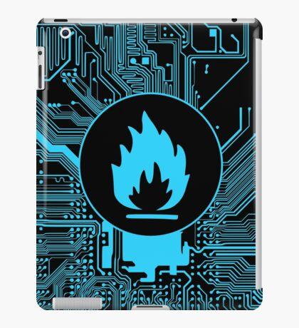 Cybergoth - Flammable (blue) iPad Case/Skin