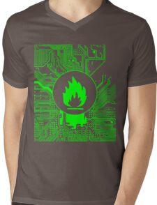 Cybergoth - Flammable (green) Mens V-Neck T-Shirt