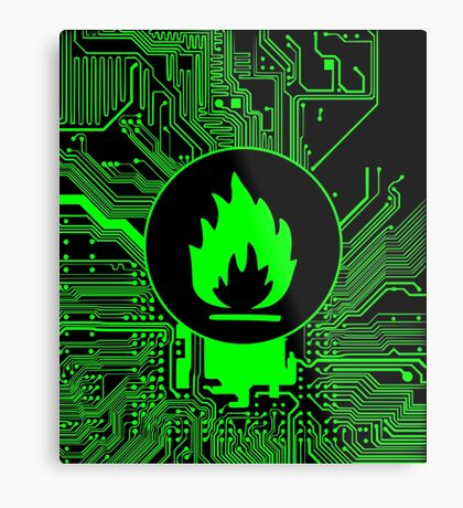 Cybergoth - Flammable (green) Metal Print