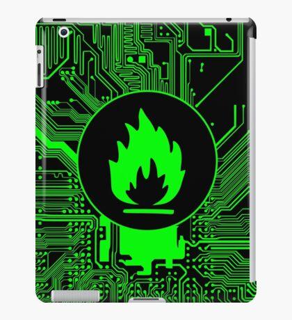 Cybergoth - Flammable (green) iPad Case/Skin