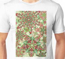 Christmas Kaleidoscope Floral 3 Unisex T-Shirt