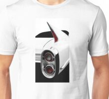 1960 Cadillac Tailfin Detail - High Contrast Unisex T-Shirt