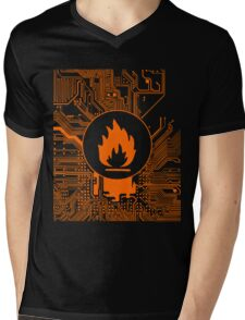 Cybergoth - Flammable (orange) Mens V-Neck T-Shirt