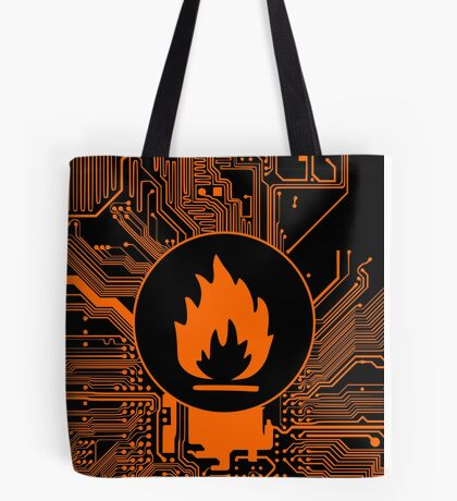 Cybergoth - Flammable (orange) Tote Bag