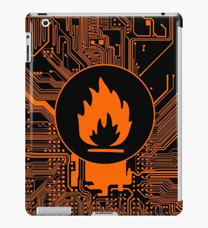 Cybergoth - Flammable (orange) iPad Case/Skin