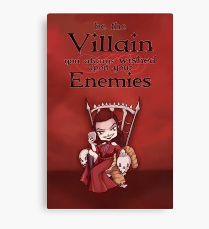 Be the Villain Canvas Print