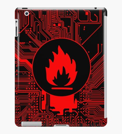 Cybergoth - Flammable (red) iPad Case/Skin