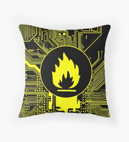 Cybergoth - Flammable (yellow) Throw Pillow