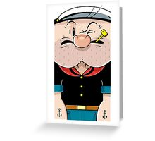 Compressed-popeye Greeting Card