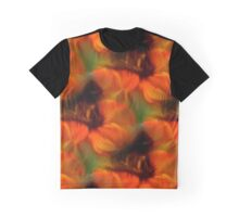 Orange Brown And Green Abstract Colors Graphic T-Shirt