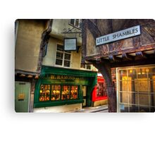 Little Shambles - York Canvas Print