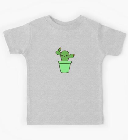 Cute cactus in green pot Kids Tee