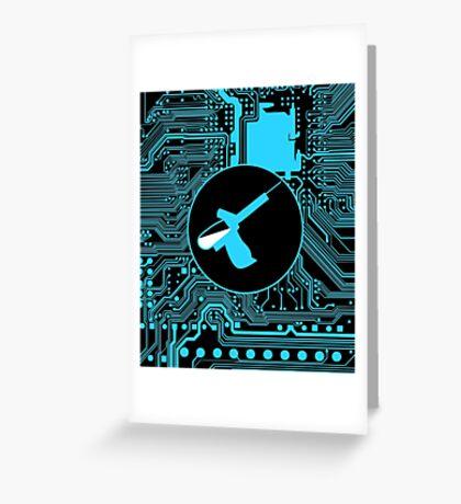 Cybergoth - Syringe (blue) Greeting Card