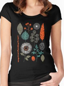 I love green and flower Shirt Women's Fitted Scoop T-Shirt