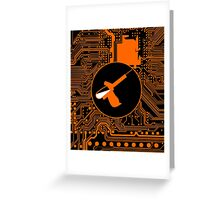 Cybergoth - Syringe (orange) Greeting Card