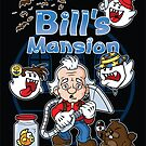 Bill's Mansion (STICKER) by mikehandyart