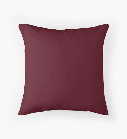 Elegant Gothic Solid Color Burgundy Red Plum  Throw Pillow