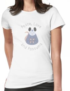 Peace, Love, and Possums Womens Fitted T-Shirt