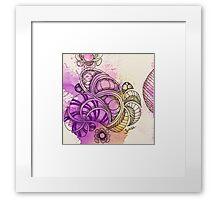 Tangle Art Pattern Love Colored I Framed Print