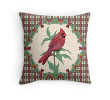 Virginia Christmas Cardinal Throw Pillow