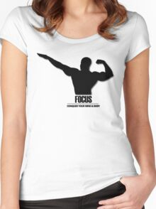 Focus Conquer your Mind and Body v2 Women's Fitted Scoop T-Shirt